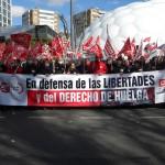 UGT CyL defiende en las calles el derecho de huelga y las libertades