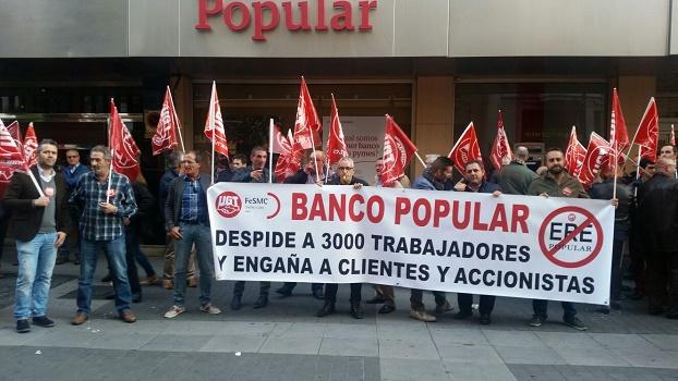 Los trabajadores del banco popular dicen no al ere for Oficina principal banco popular