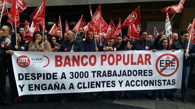 El ere del banco popular afectar a 1 de cada 4 for Oficina principal banco popular
