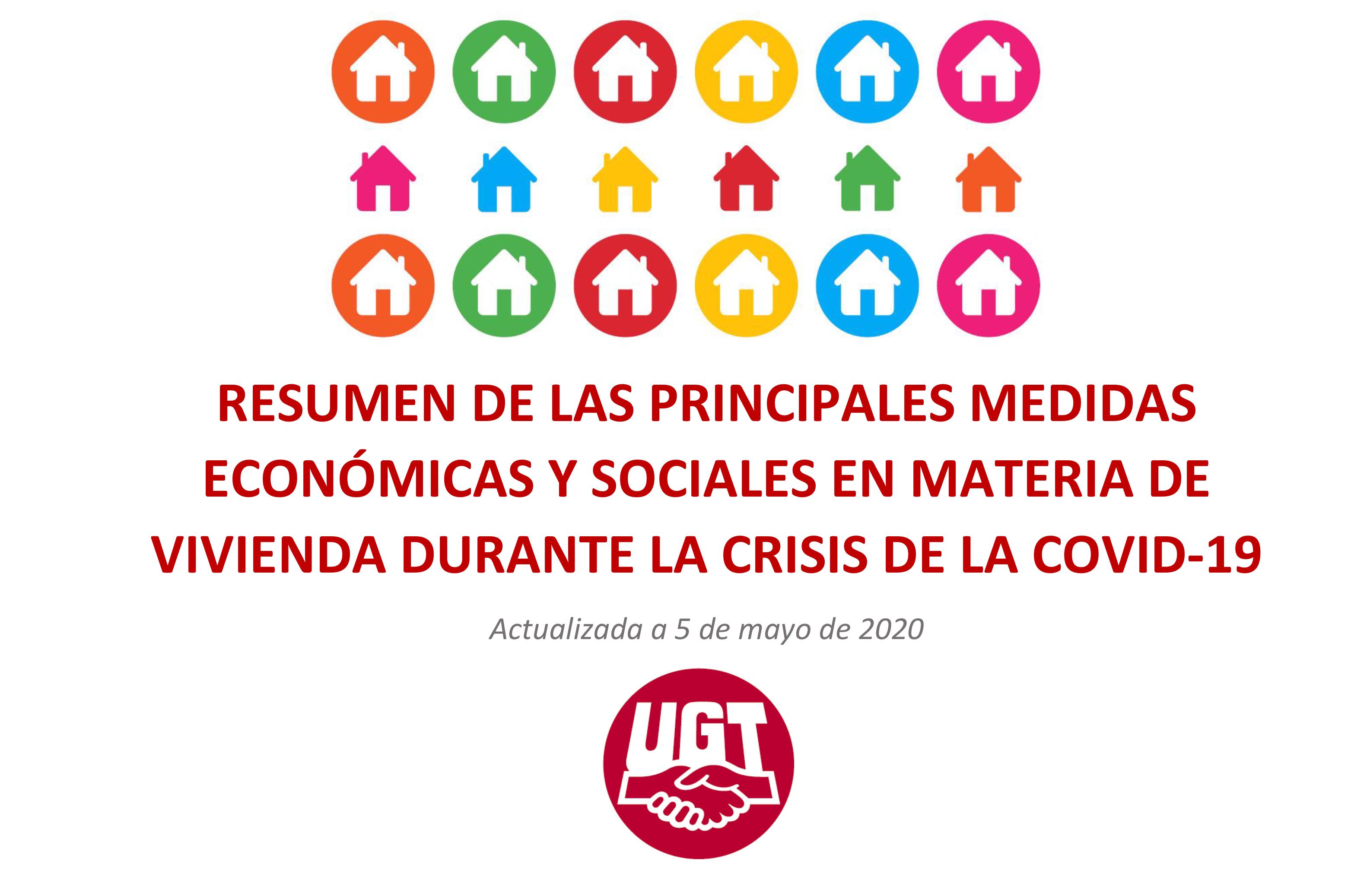 ACTUALIZADA A DIA 5 DE MAYO - CUADRO-RESUMEN EN MATERIA DE VIVIENDA DERIVADA DE LAS MEDIDAS IMPLEMENTADAS EN EL RD-LEY 11/2020, DE 31 DE MARZO POR EL QUE SE ADOPTAN MEDIDAS URGENTES COMPLEMENTARIAS EN EL ÁMBITO SOCIAL Y ECONÓMICO PARA HACER FRENTE AL COVID-19
